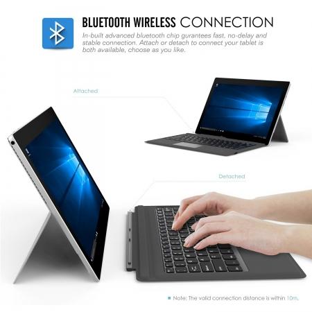 Microsoft Surface Pro 4 / Pro 3 Type Cover, Ultra-Slim Wireless Bluetooth Keyboard